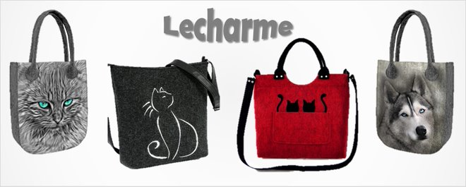 Lecharme kabelka s kočkou - Lecharme taška se psem